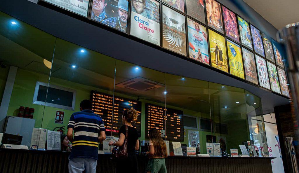 Taquilla de los cines Quadernillos