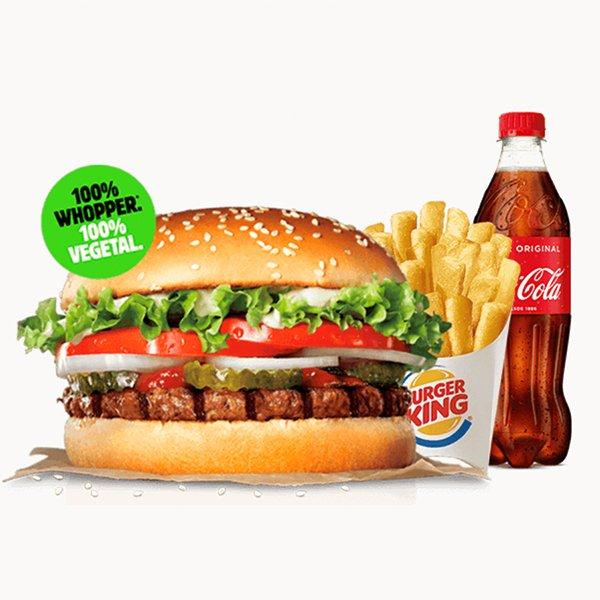 Hamburguesa 100% vegetal de Burger King
