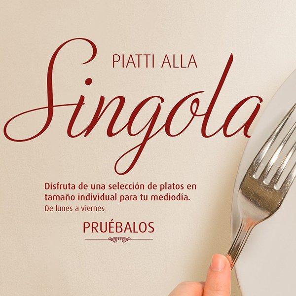 Platos individuales Tagliatella