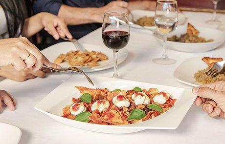 Comida italiana en la Tagliatella