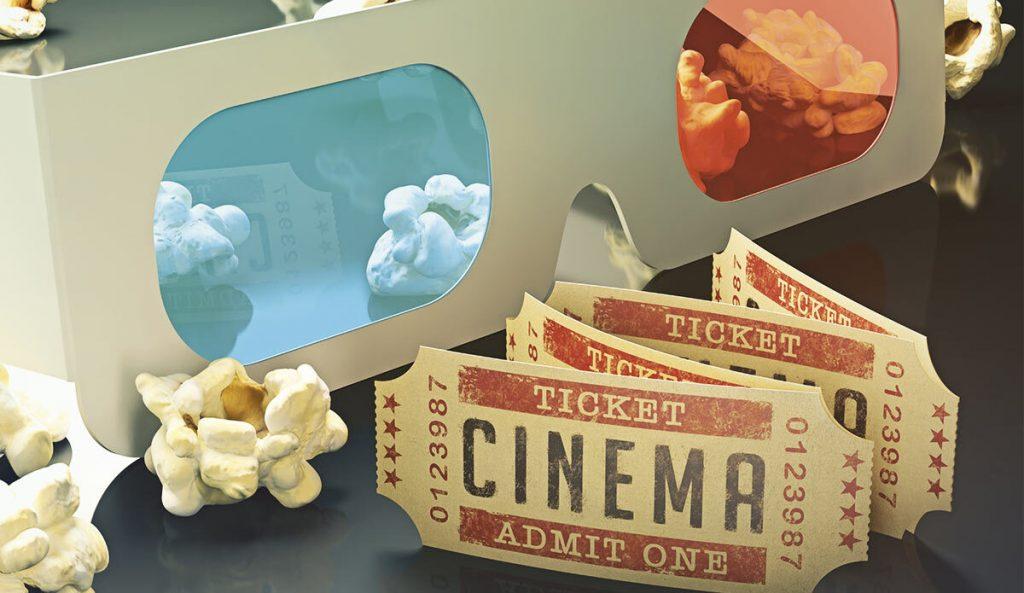Entrada cine y gafas 3D