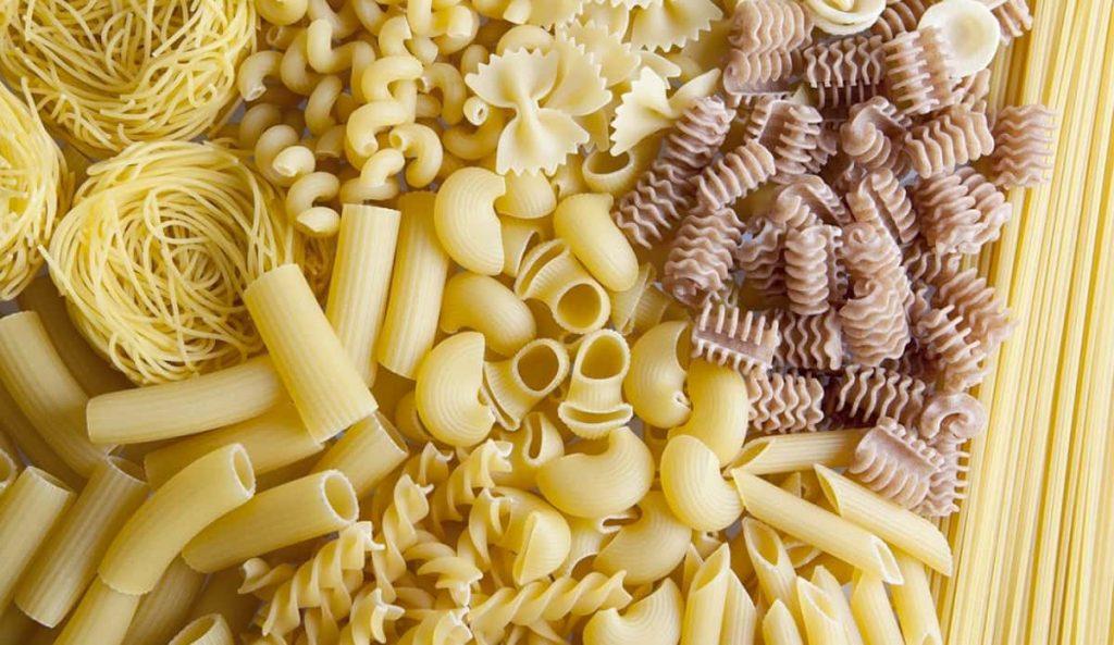 Diferentes tipos de pasta italiana