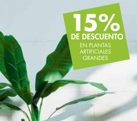 15% descuento plantas artificales