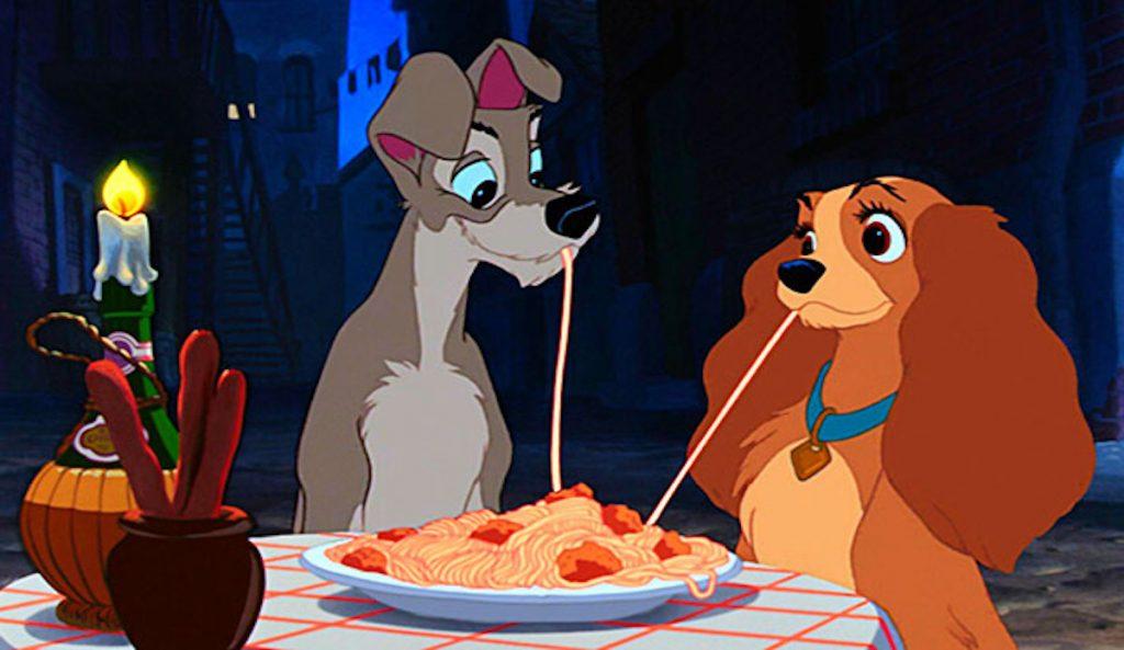 la dama y el vagabundo comidas de película