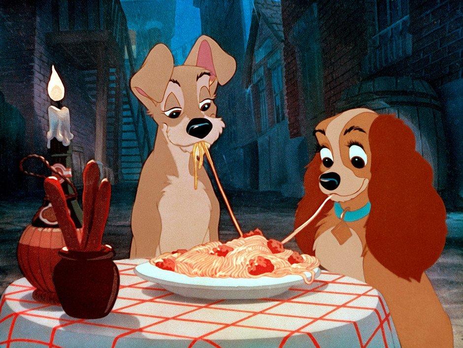 comidas de película la dama y el vagabundo