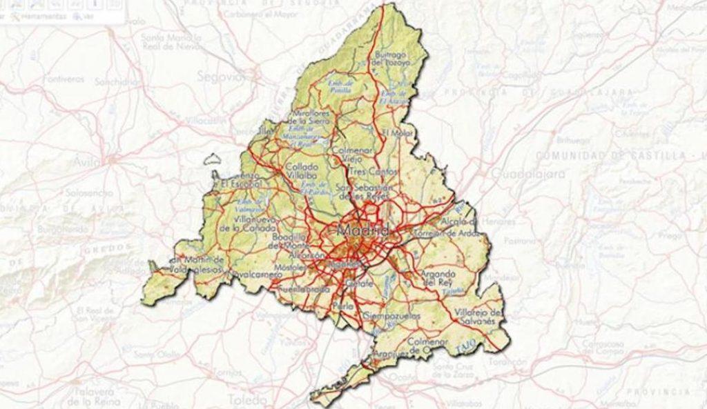 mapa Comunidad de Madrid