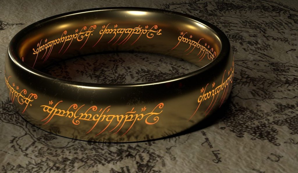 anillo del Señor de los Anillos